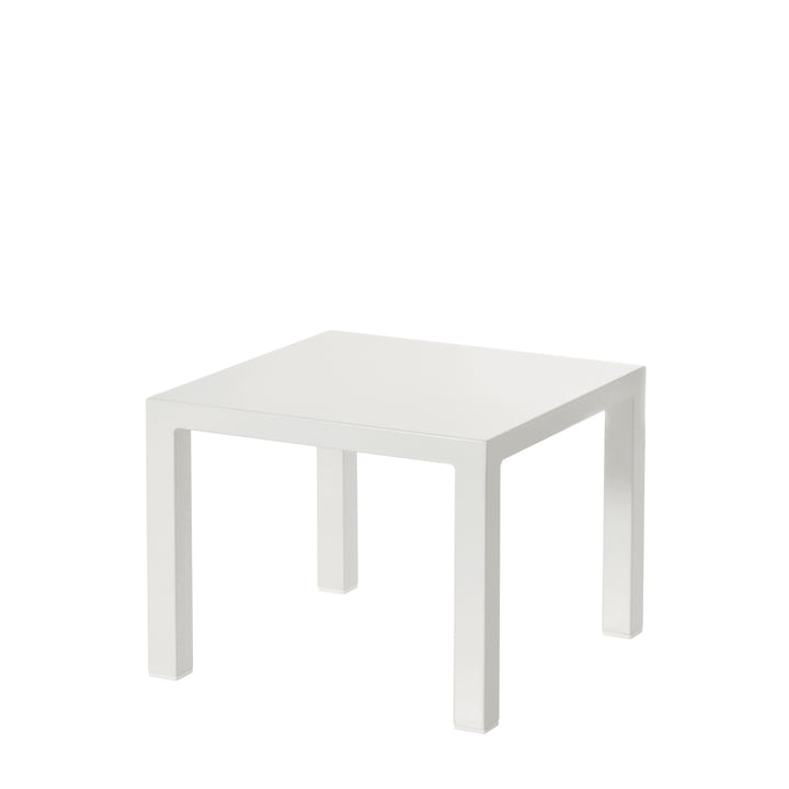 The Emu - Round Side Table H 42 cm, 45 x 45 cm, white