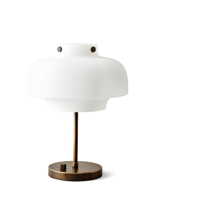 Copenhagen SC13 table lamp from & Tradition in opal glass / burnished brass