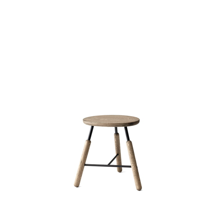 Norm NA3 Stool H 46 cm by &Tradition in smoked and oiled oak