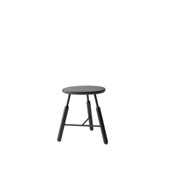 NA3 Stool H 46 cm by &Tradition in Black Stained Oak