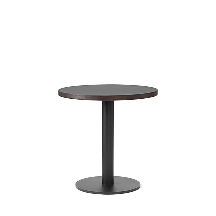 Nærvær side table Ø 42 x H 42 cm by &Tradition in Black / Smoked and Oiled Oak
