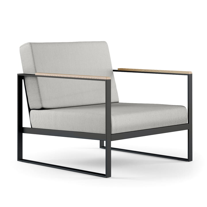 Röshults - Garden Easy Chair, anthracite / natural grey