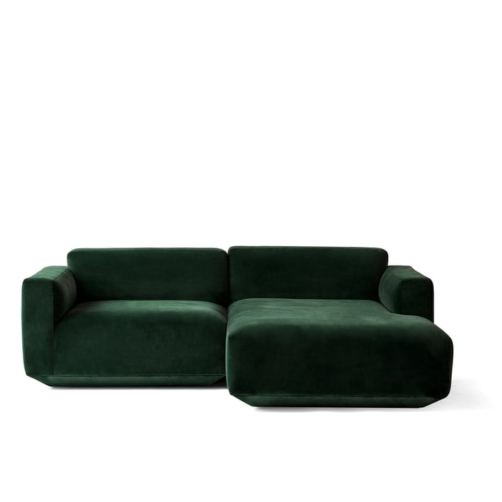 Develius Corner Sofa Configuration B by &Tradition in Velvet 1 (Forest)
