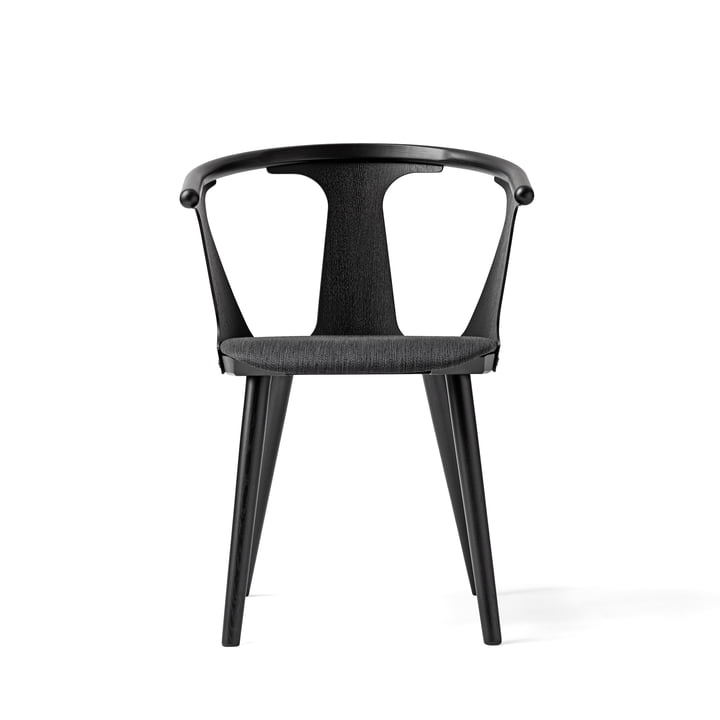 The In Between Chair SK2 from &Tradition in Black Stained Oak (RAL 9005) / Fiord 191 Upholstery