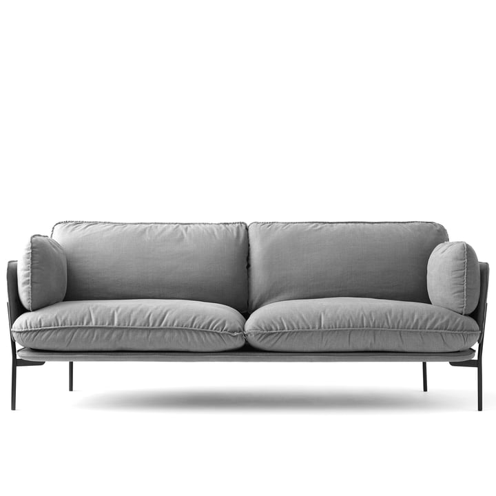 Cloud Sofa LN 3.2 by &Tradition with frame in warm black / Hot Madison 724