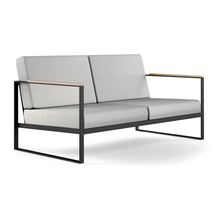 The Röshults - Garden Easy 2 Seater Sofa, Anthracite / Natural Grey