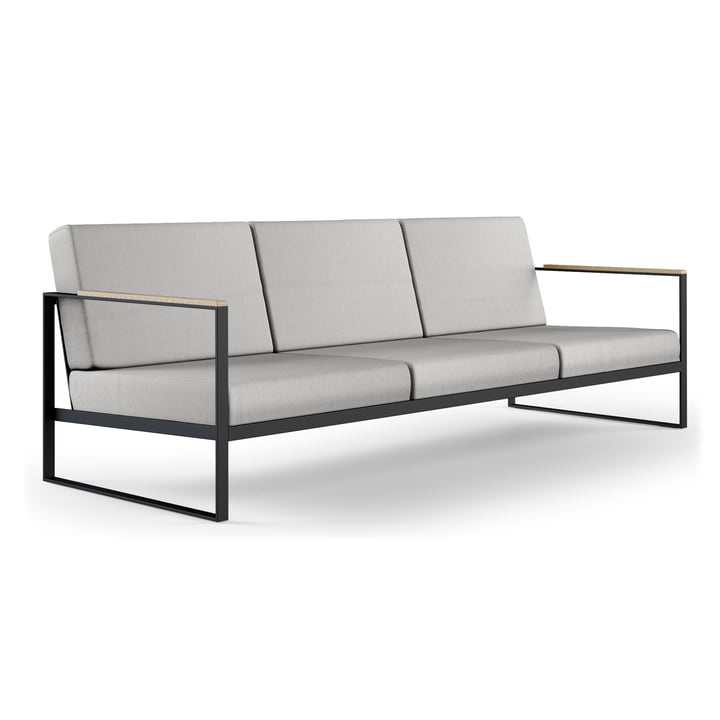 The Röshults - Garden Easy 3 Seater Sofa, anthracite / natural grey
