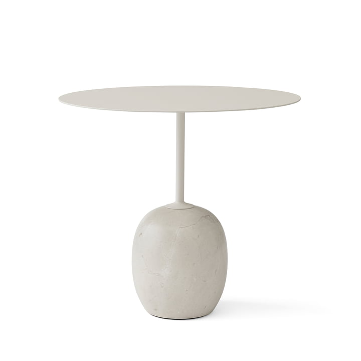 Lato Side Table by &Tradition in Ivory White / Crema Diva Marble
