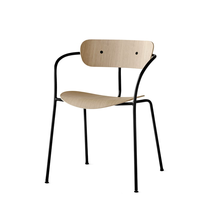 The Pavilion Chair by &Tradition with Black Base / Lacquered Oak
