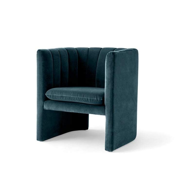 Loafer Armchair by &Tradition in Velvet 10 (Twilight)