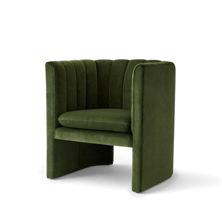 Loafer Armchair from & Tradition in Velvet 2 (Pine)