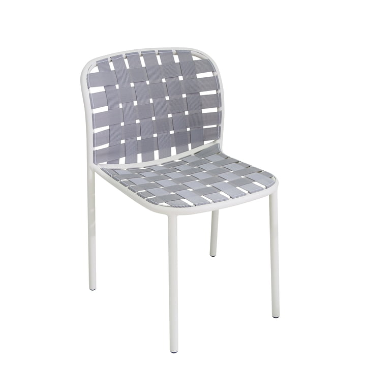 The Emu - Yard Chair, white / grey