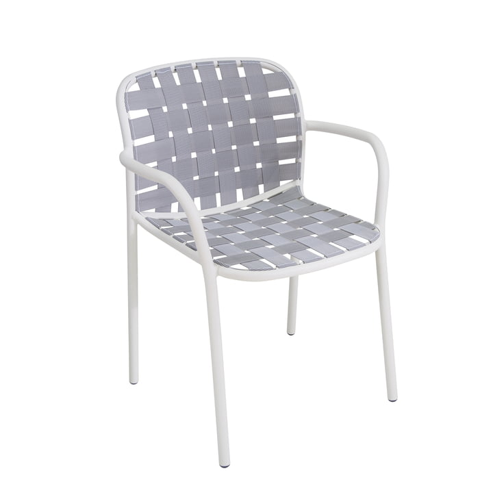 Emu - Yard Armchair, white / grey