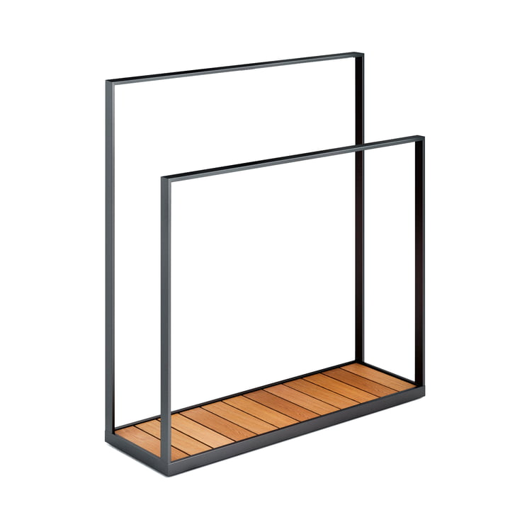 Garden Towel Rack by Röshults in Teak / Anthracite