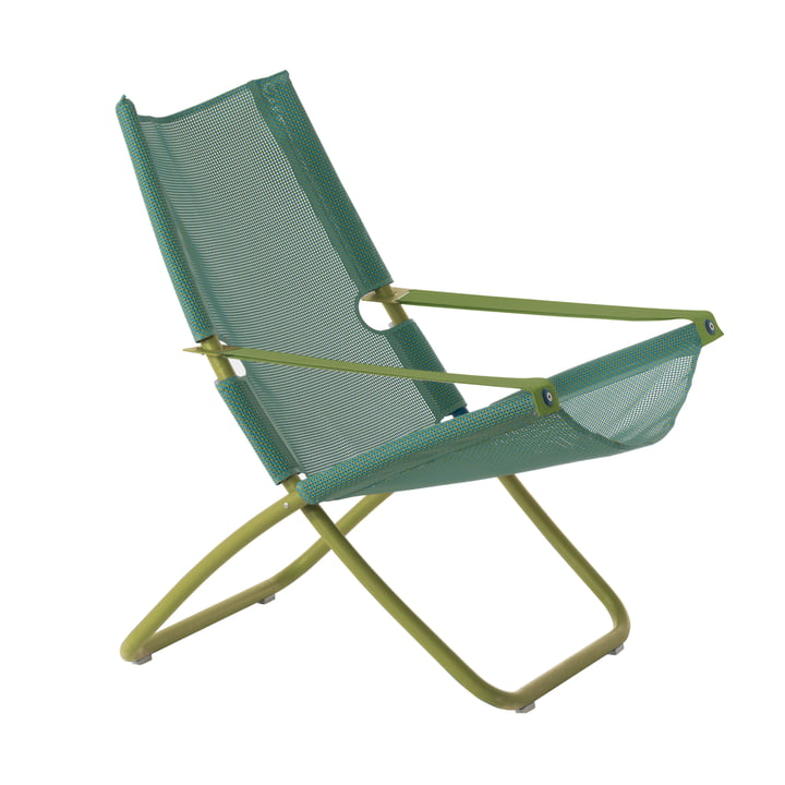 Snooze Deckchair from Emu in green / mint