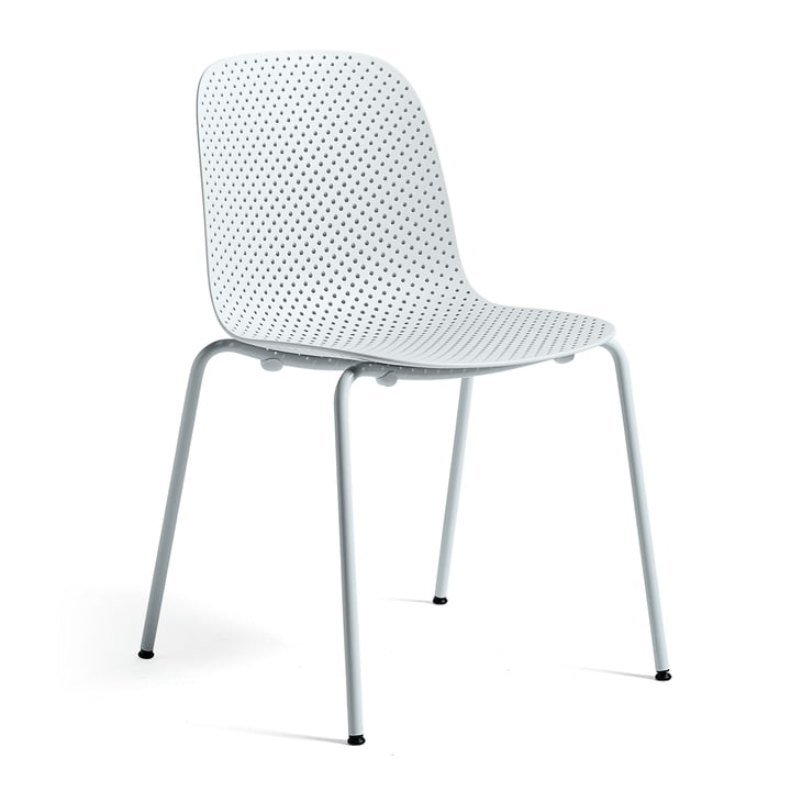 13Eighty Chair by Hay Pure Grey Frame / Soft Blue Seat Surface