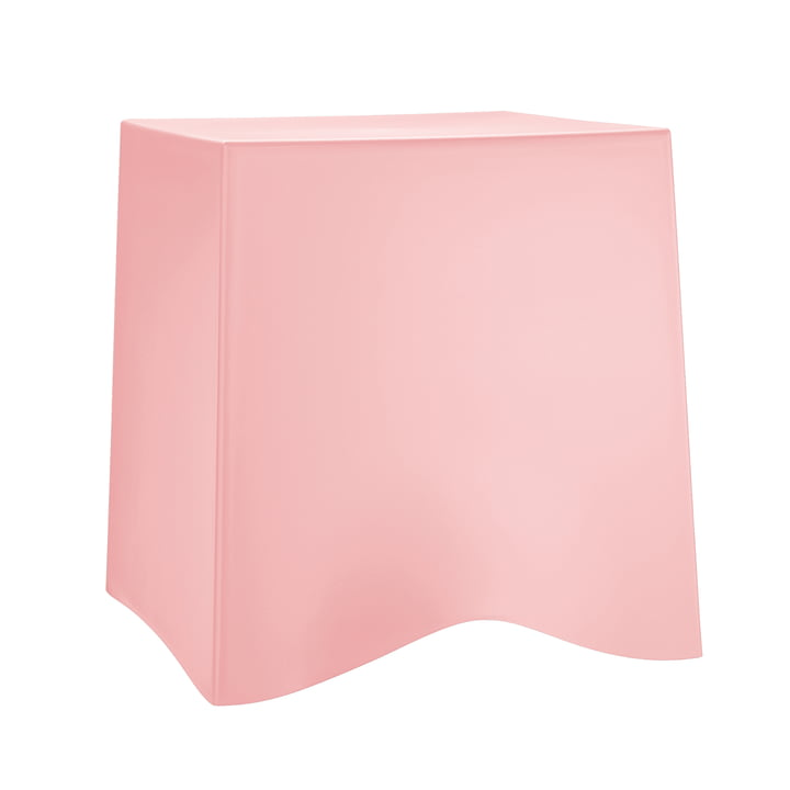 Briq Hocker by Koziol in Powder Pink