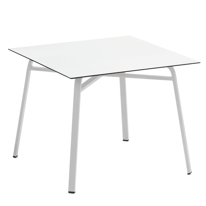 Weishäupl - Ahoi Table 90 x 90 cm, white aluminium / white HPL