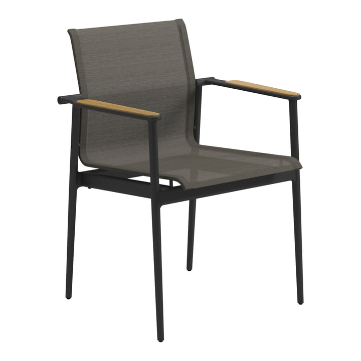 180 Armchair by Gloster with Wood Armrests
