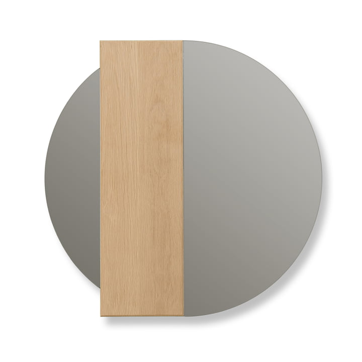 Charlotte wall mirror by Hartô, oak stripe / mirror glass