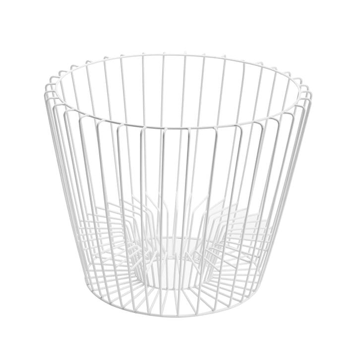 Hartô - Basket for Ernest Table and Magazine Holder, white