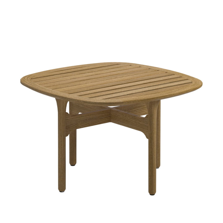 Bay Lounge side table 63 x 63 cm from Gloster in teak