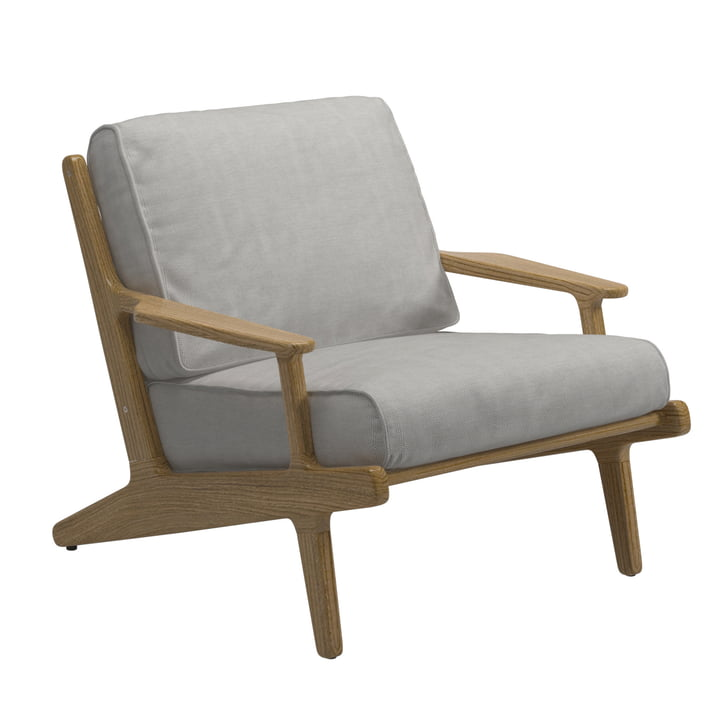 Gloster - Vista Lounge Chair, Teak Frame / Seagull Sunbrella Cover