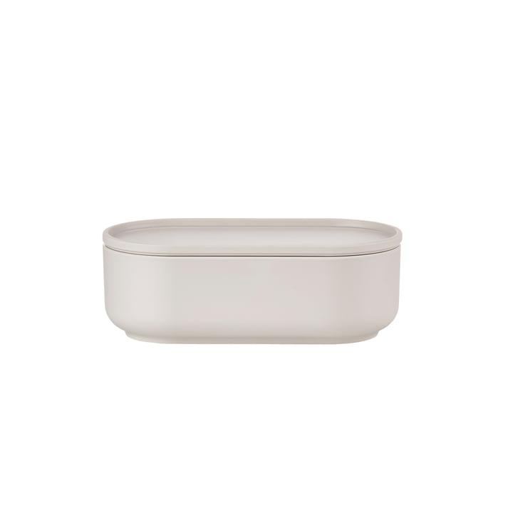 Peili Oblong Bowl Ø 17.9 x H 8.3 cm by Zone Denmark in Warm Grey