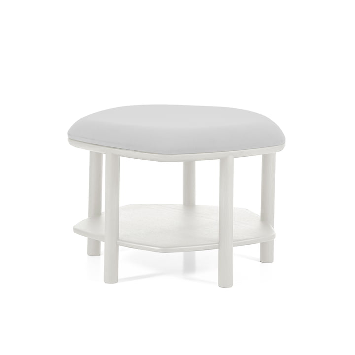 Abel Ottoman / Side Table, Small Ø 55 cm by Hartô in Light Grey (RAL 7035)