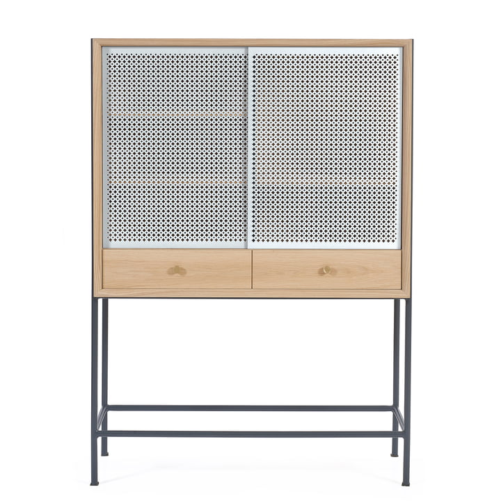 Gabin Cabinet by Hartô in Oak / Light Grey (RAL 7035)