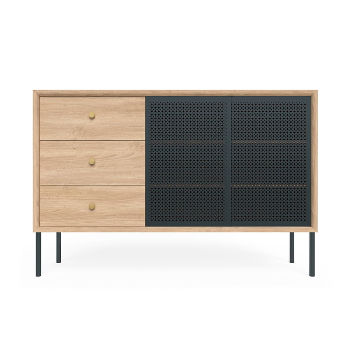 Gabin Sideboard High with Drawers by Hartô in Oak / Anthracite Grey (RAL 7016)