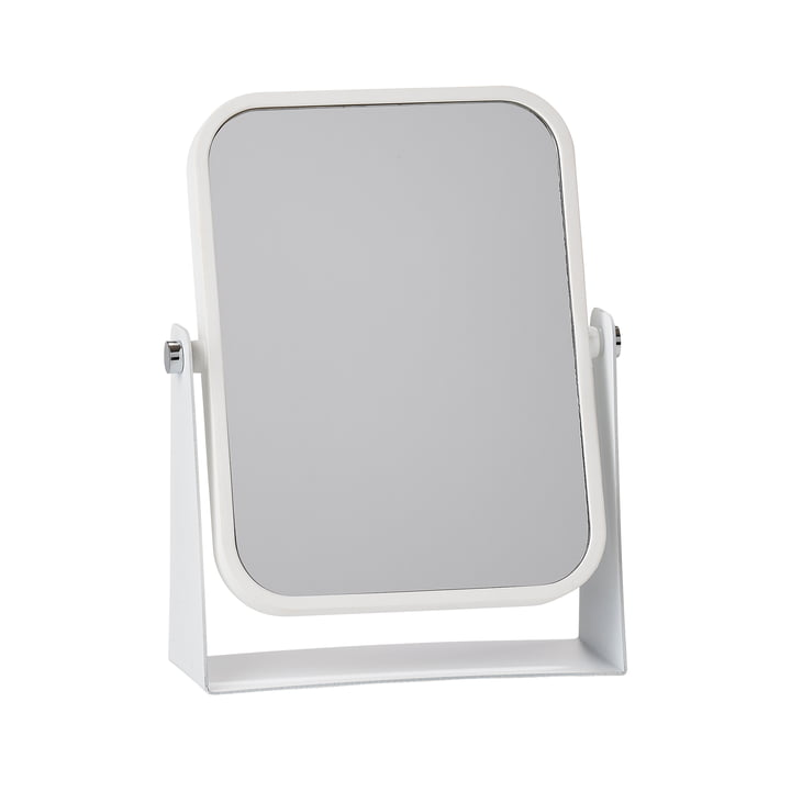 The Zone Denmark - Table Mirror with 2 Mirrored Surfaces and Magnifying Effect, White