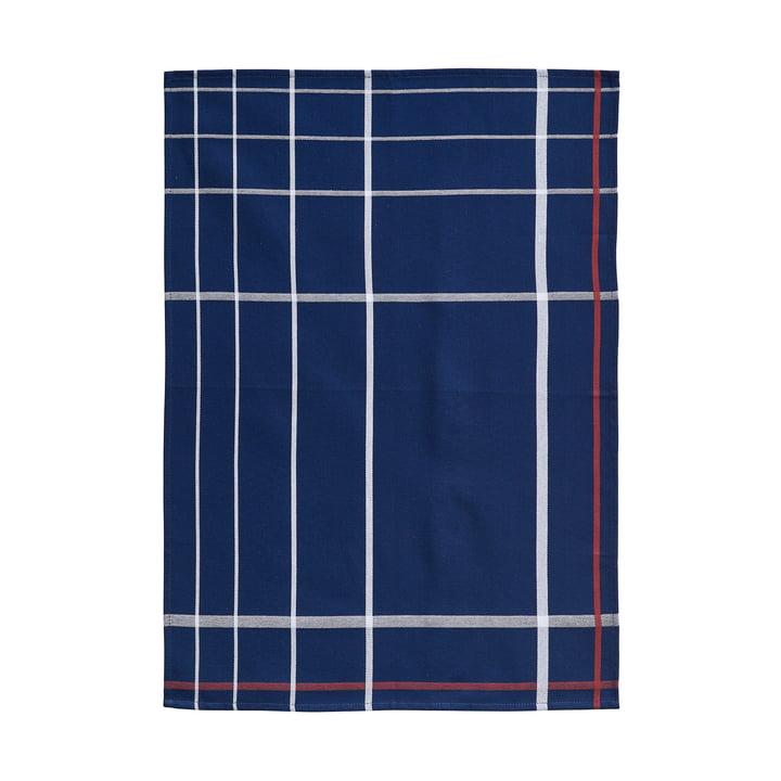 Tea Towel 70 x 50 cm by Zone Denmark in Dark Blue / White