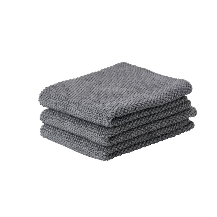 The Zone Denmark - Kitchen Cloth, 27 x 27 cm, Cool Grey (set of 3)