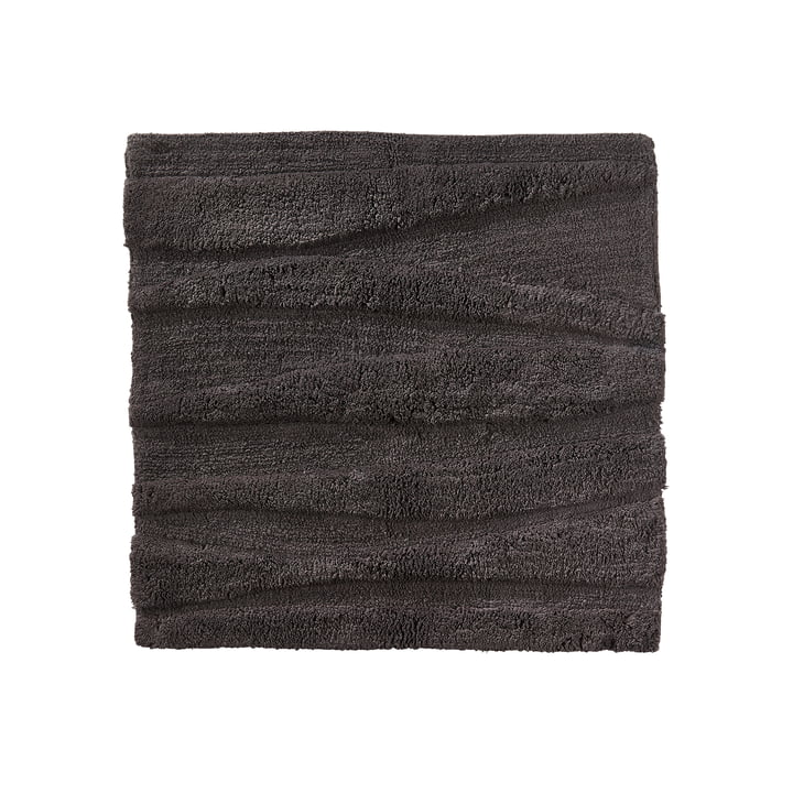 The Zone Denmark - Flow Bathmat, 65 x 65 cm, anthracite