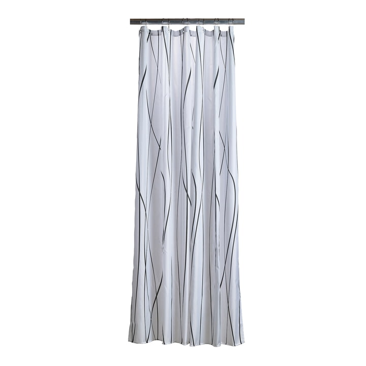The Zone Denmark - Flow Shower Curtain, anthracite / white