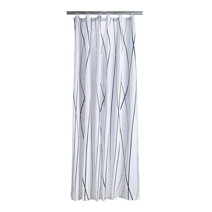 Zone Denmark - Flow Shower Curtain, Black / White