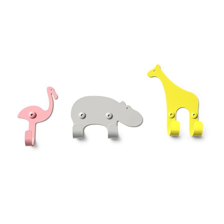 The vonbox - Wall Hooks Zoo, savannah (set of 3)