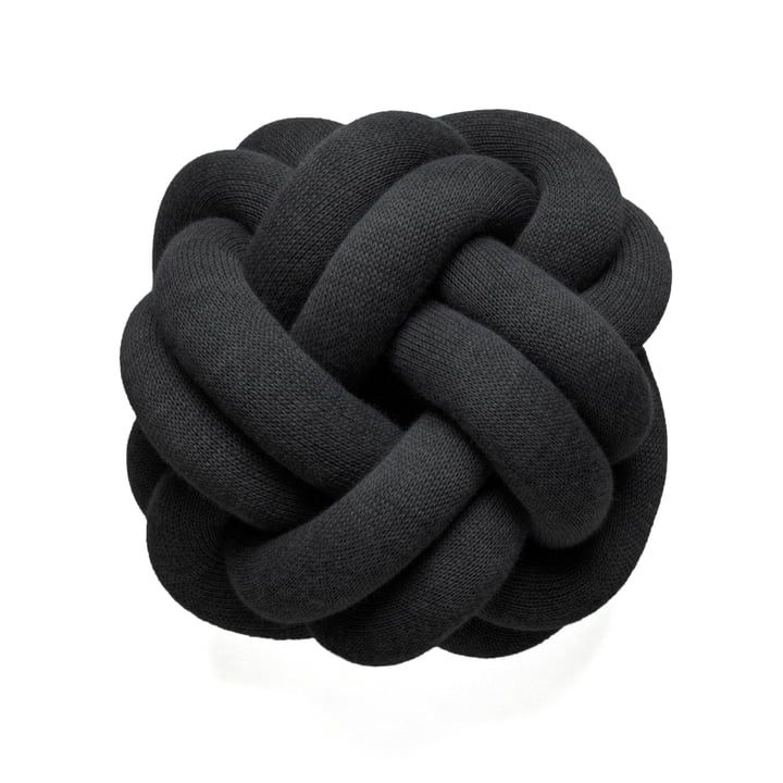 Knot Cushion, navy by Design House Stockholm in Anthracite