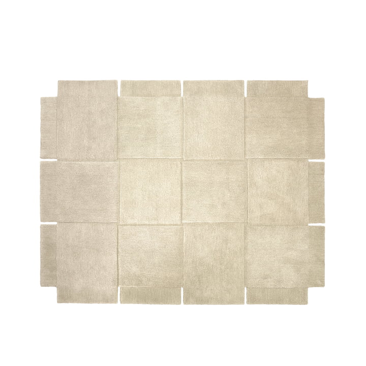 Design House Stockholm - Basket Rug 185 × 240 cm in Beige