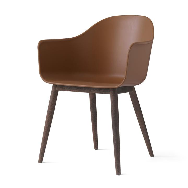 Menu - Harbour Chair (Wood), dark wood / kaki