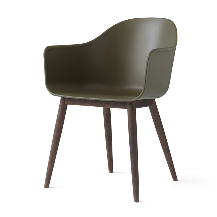 Menu - Harbour Chair (Wood), dark wood / olive