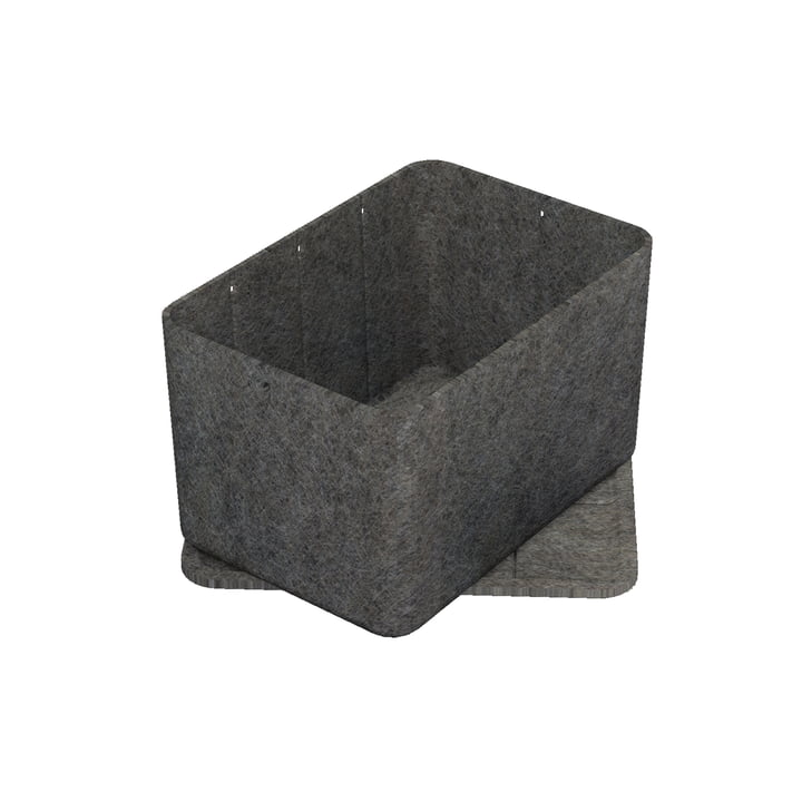 Inos Box with Tray, 22.3 x 32.2 cm, H 19 cm by USM Haller in Anthracite
