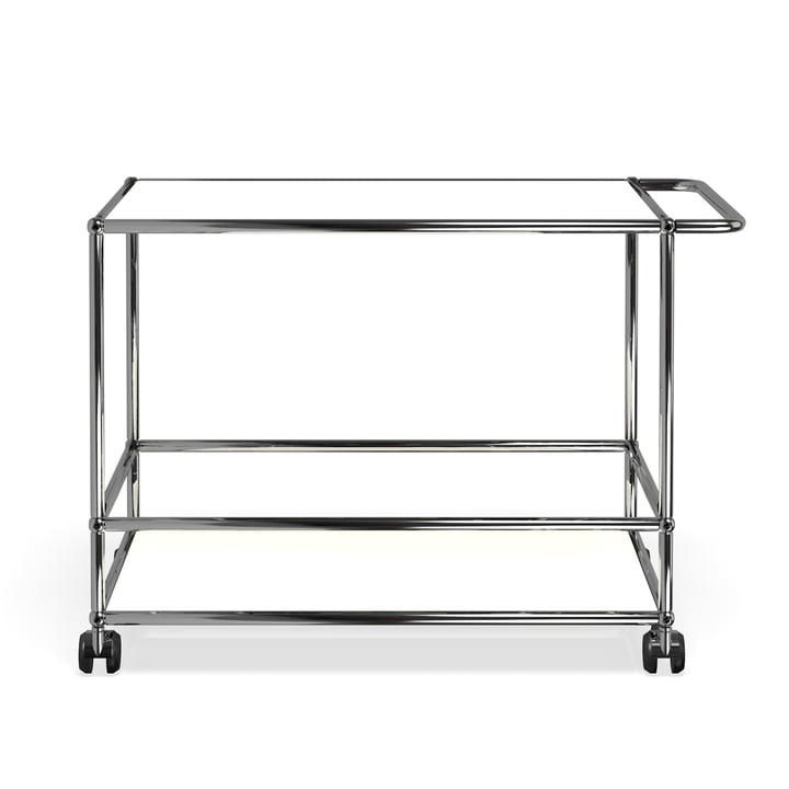 Serving Trolley by USM Haller in Pure White (RAL 9010)