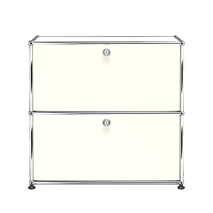 The USM Haller - Sideboard S with Two Drop-Down Doors, Pure White (RAL 9010)