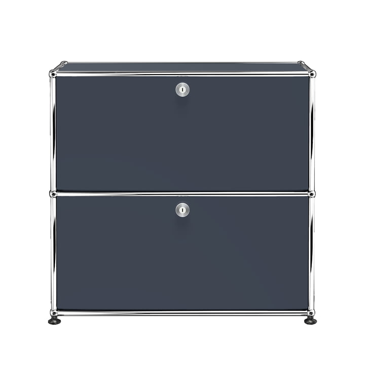The USM Haller - Sideboard S with Two Drop-Down Doors, Pure White (RAL 7016)