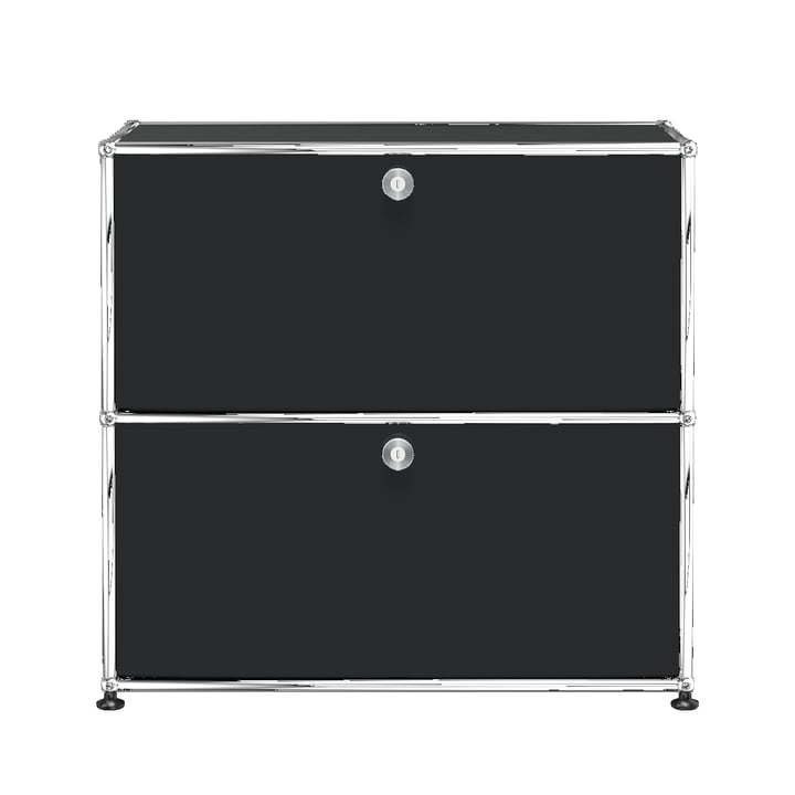 The USM Haller - Sideboard S with Two Drop-Down Doors, Pure White (RAL 9011)