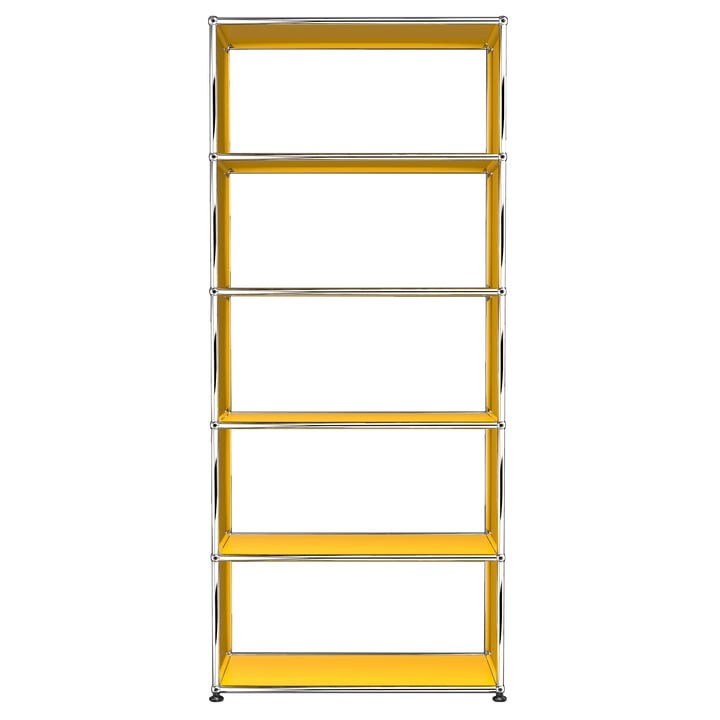 USM Haller - Shelf S with 5 Compartments, Gold Yellow (RAL 1004)