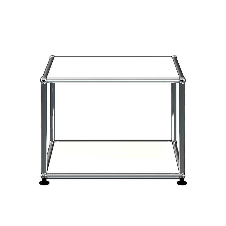 The USM Haller - Side Table, 52.3 x 52.3 cm, pure white (RAL 9010)