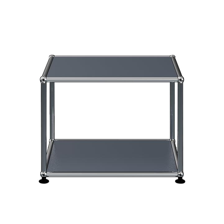 The USM Haller - Side Table, 52.3 x 52.3 cm, Anthracite Grey (RAL 7016)